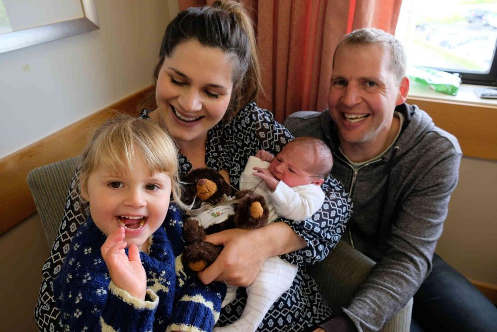 The Bradley family: Hollie, Alan, Mia and baby Archie